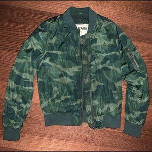 Garage Camo bomber jacket